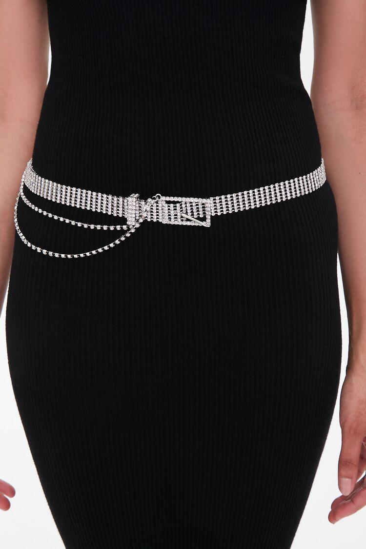 Vintage Wide Belts, Cinch Belts, Skinny 50s Belts Rhinestone Box Chain Hip Belt in Silver $14.99 AT vintagedancer.com